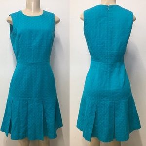 Calvin Klein turquoise  pleated dress